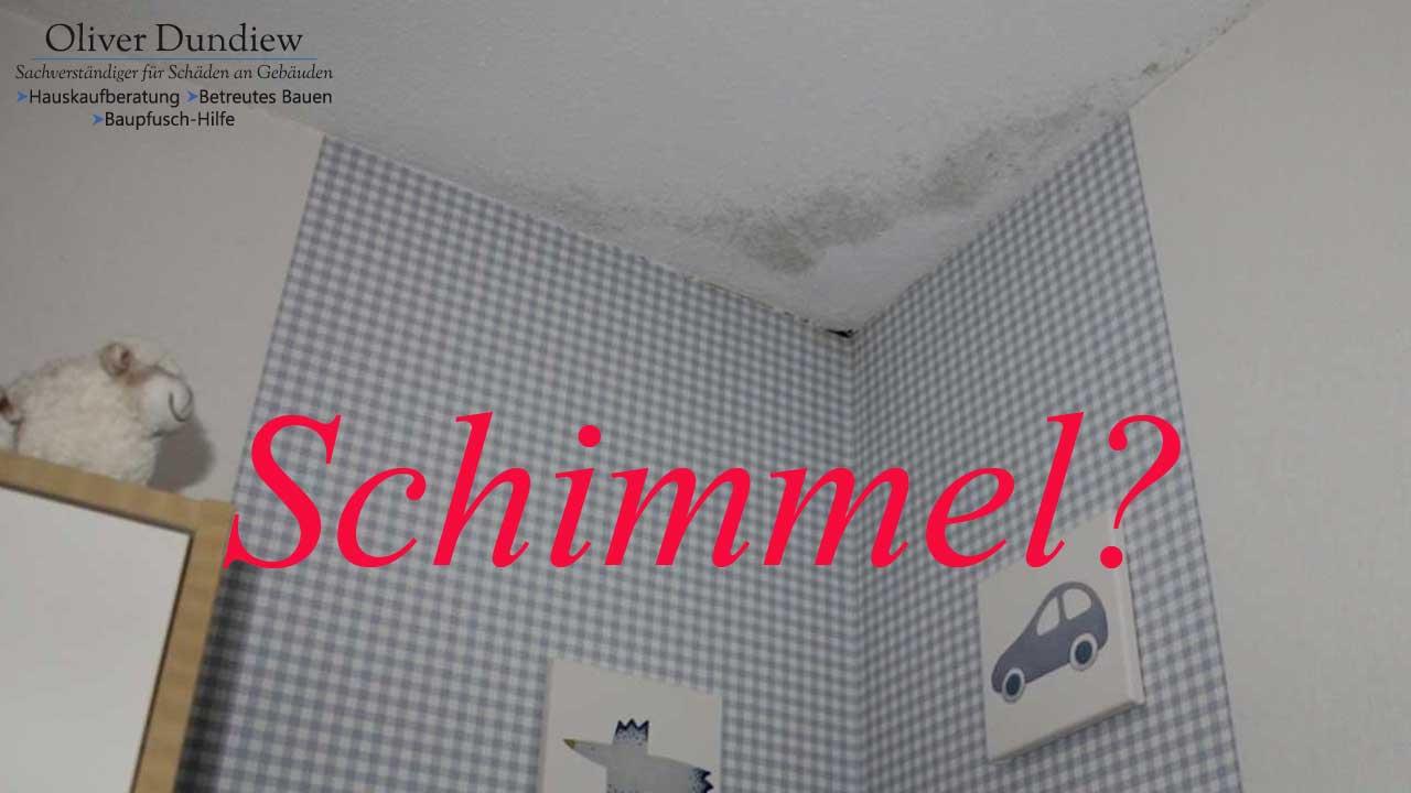 schimmel-decke-mit-Text - Baugutachter Oliver Dundiew