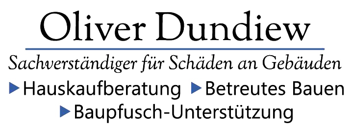 Baugutachter Oliver Dundiew